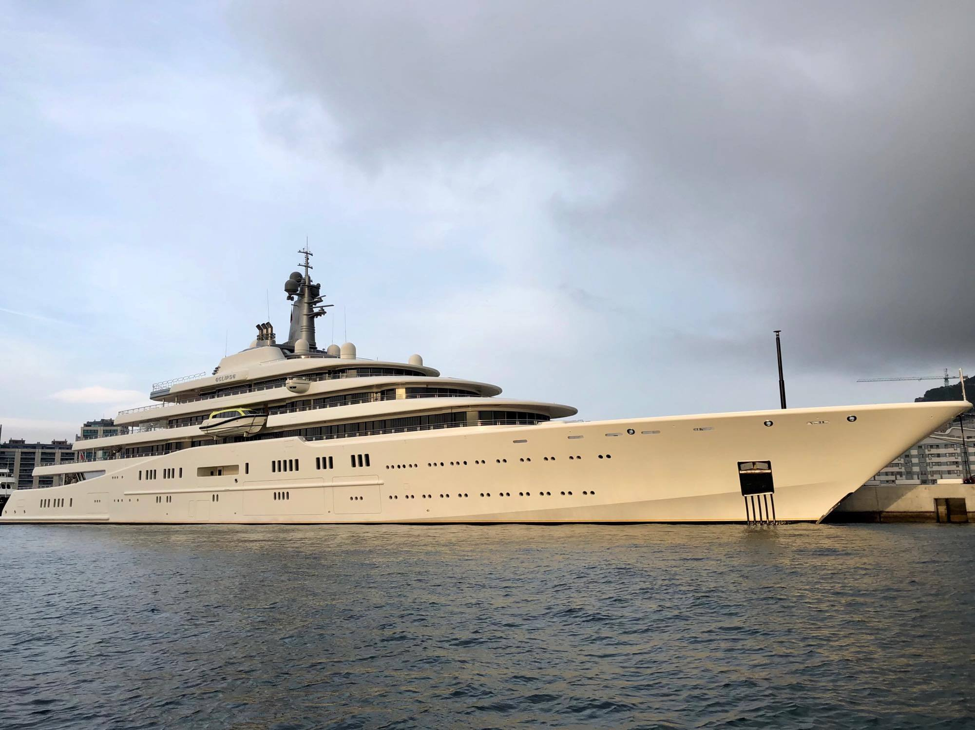 162m Eclipse Spotted In Gibraltar Yacht Harbour