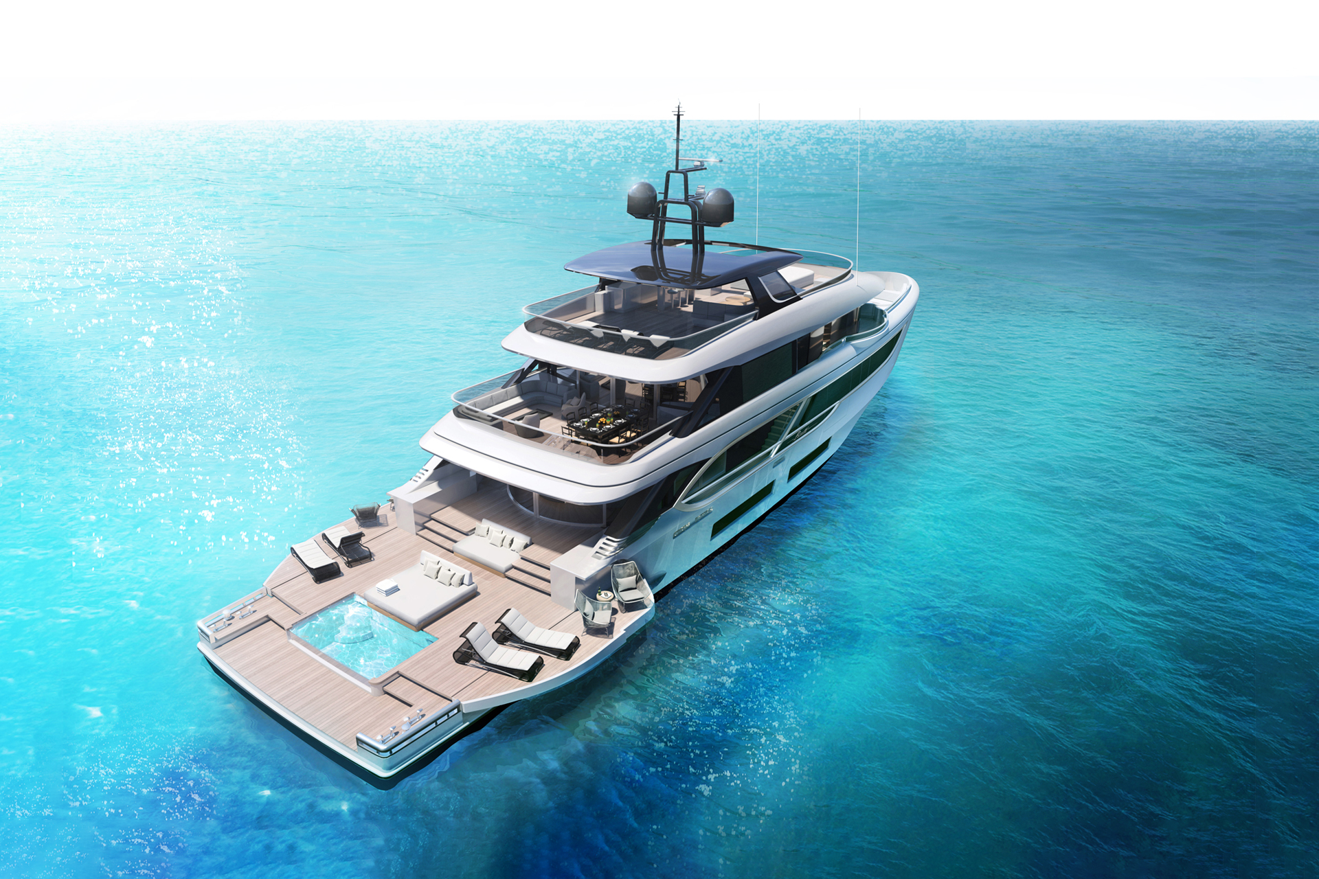 41 metre oasis 135 superyacht by benetti yacht harbour