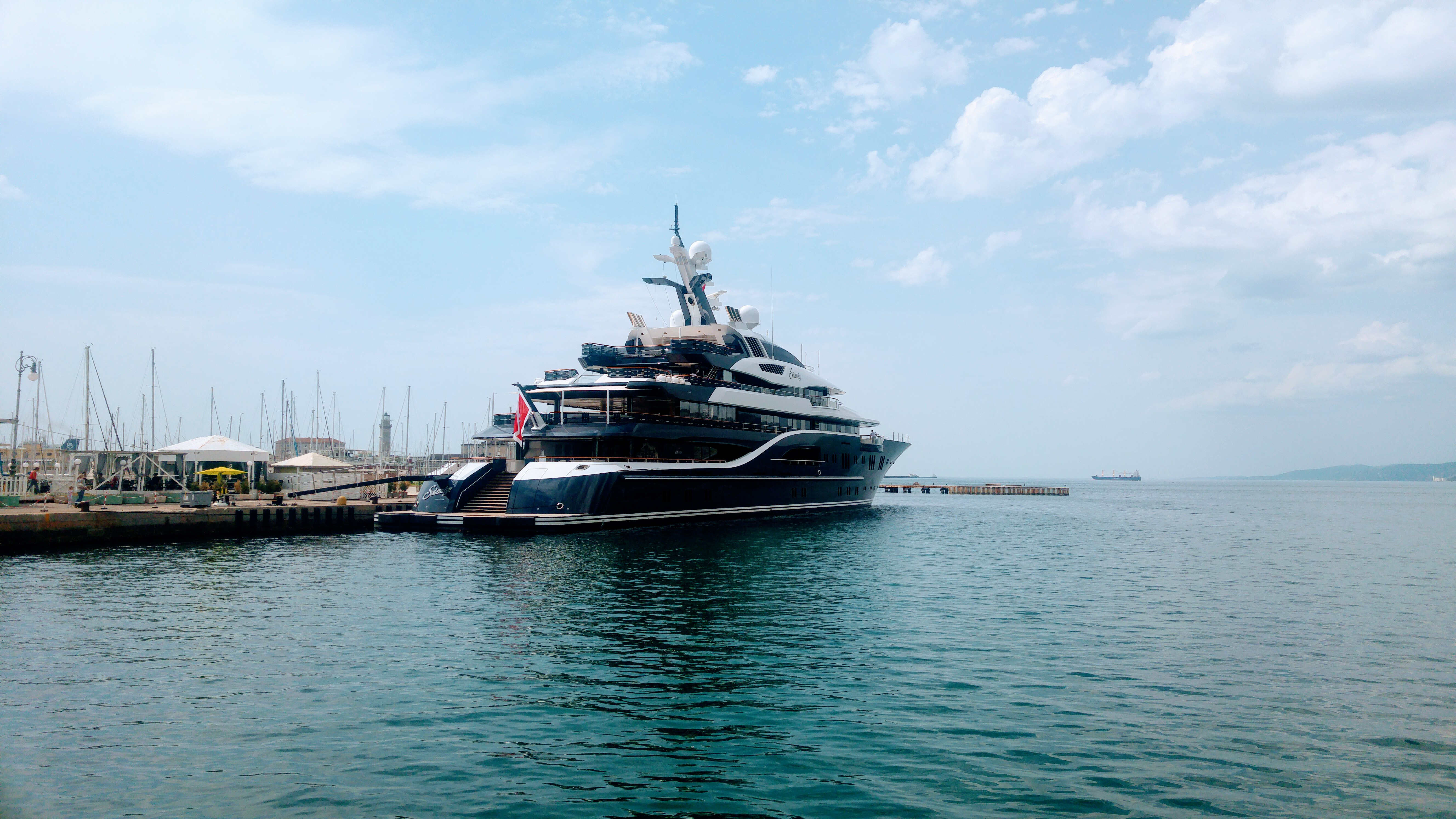 85 Metre Solandge Spotted In Trieste Yacht Harbour