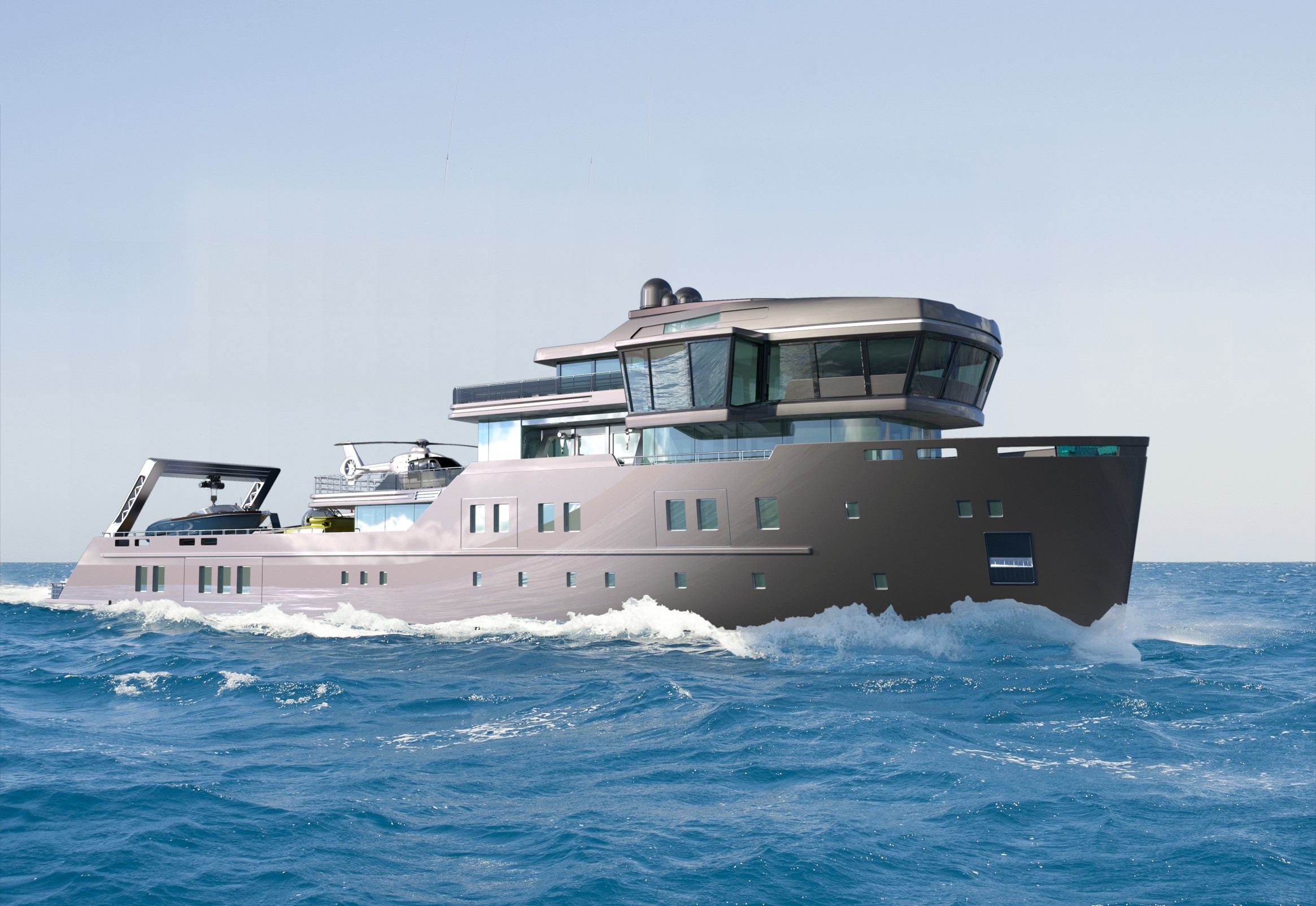 70-metre ice class explorer yacht project Ida Pfeiffer