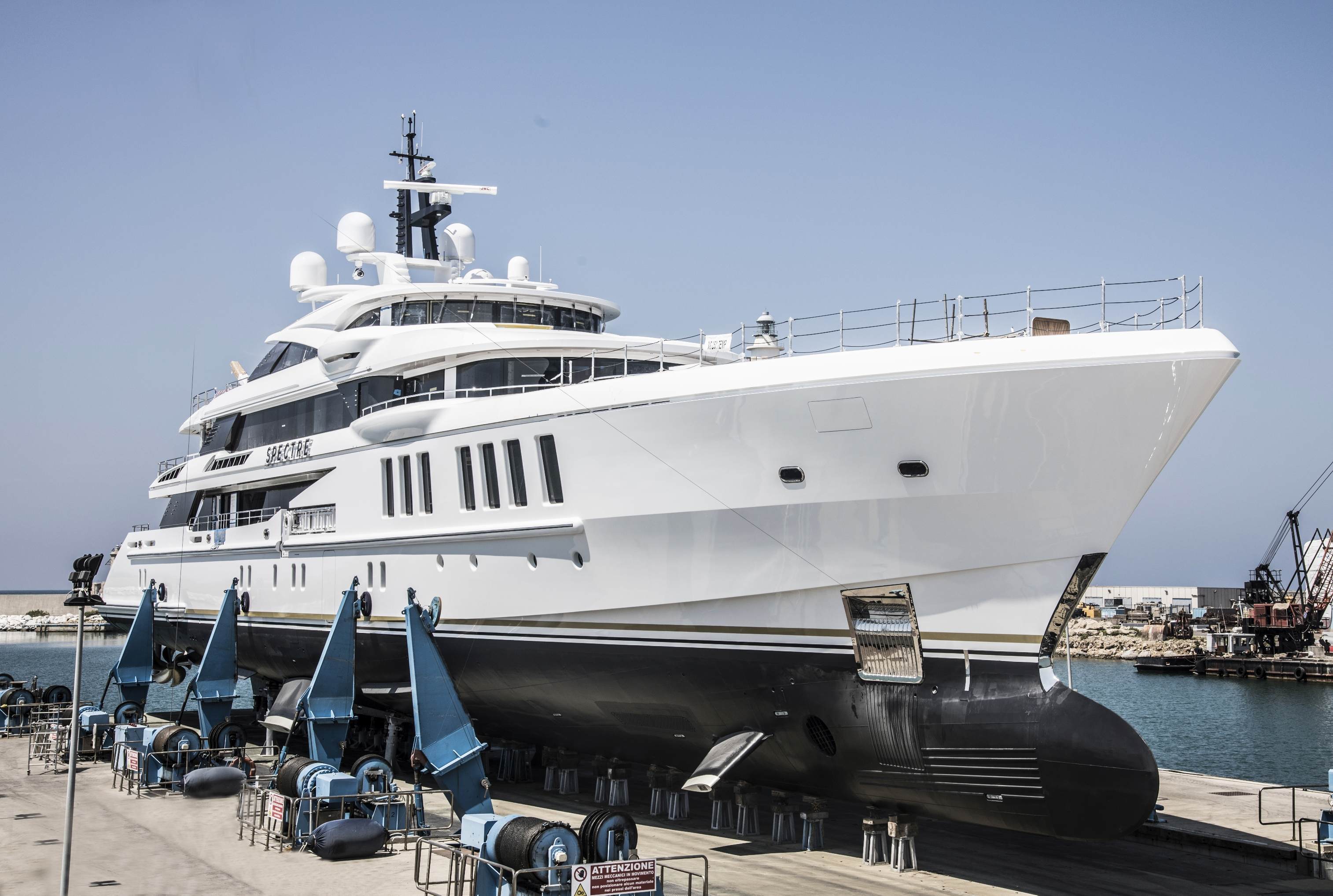 69-metre superyacht Spectre built for John Staluppi, with a