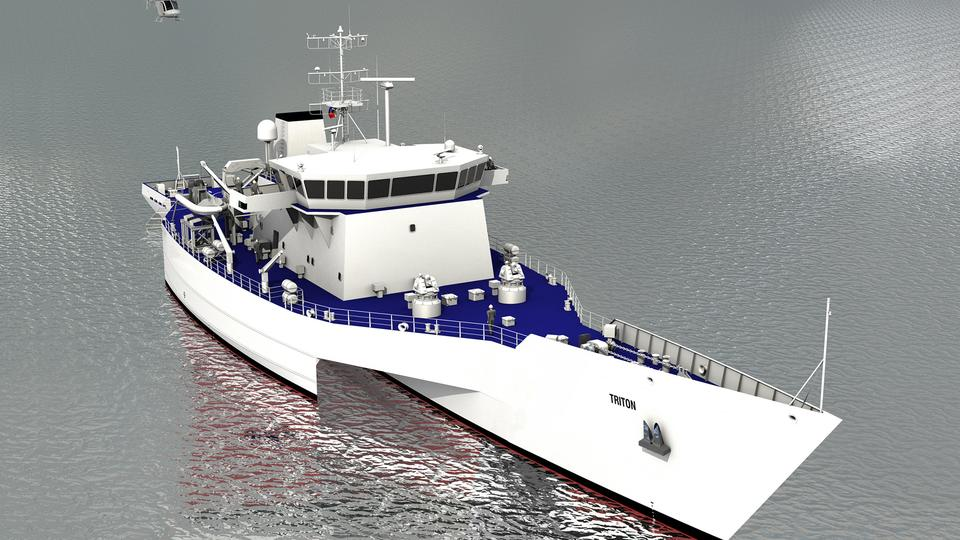 90-meter Triton : ex Royal Navy vessel to be converted