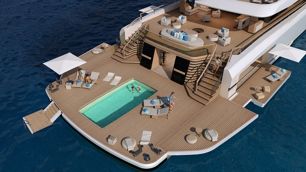 78m Superyacht Concept The Island With Expanding Beach Club By Nauta