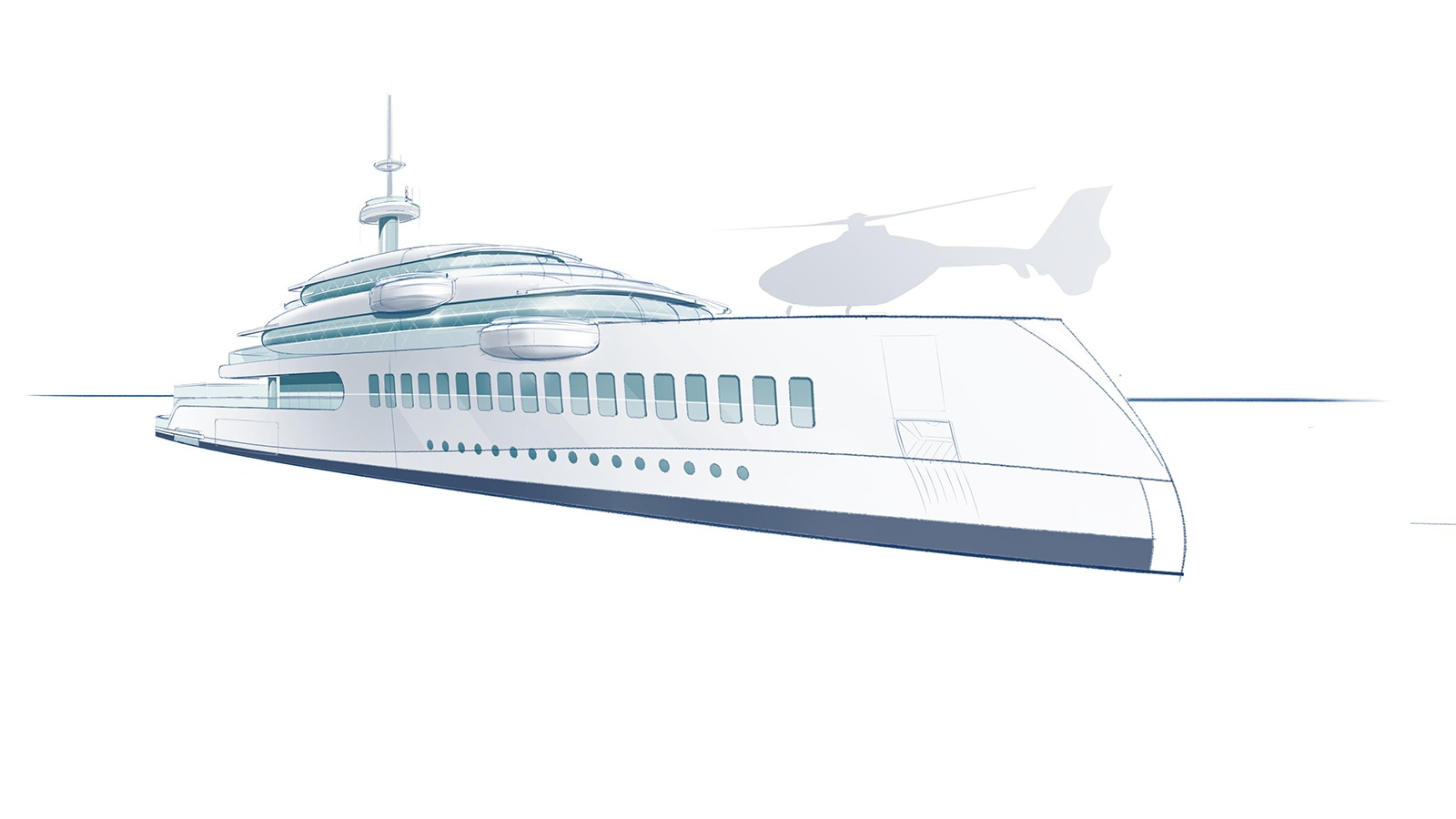 65m Feadship superyacht concept Silence with plastic removal system