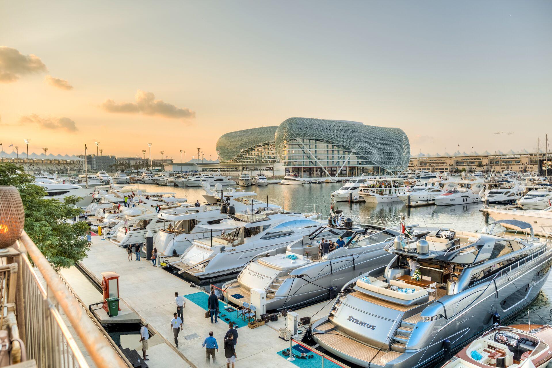 Yas Marina prepares for Formula 1 Grand Prix - Yacht Harbour