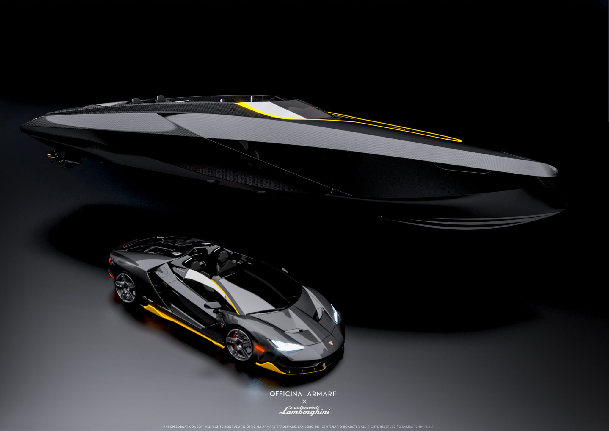 Lamborghini Inspired Boat Concept From Italian Design Studio Officina Armare Yacht Harbour