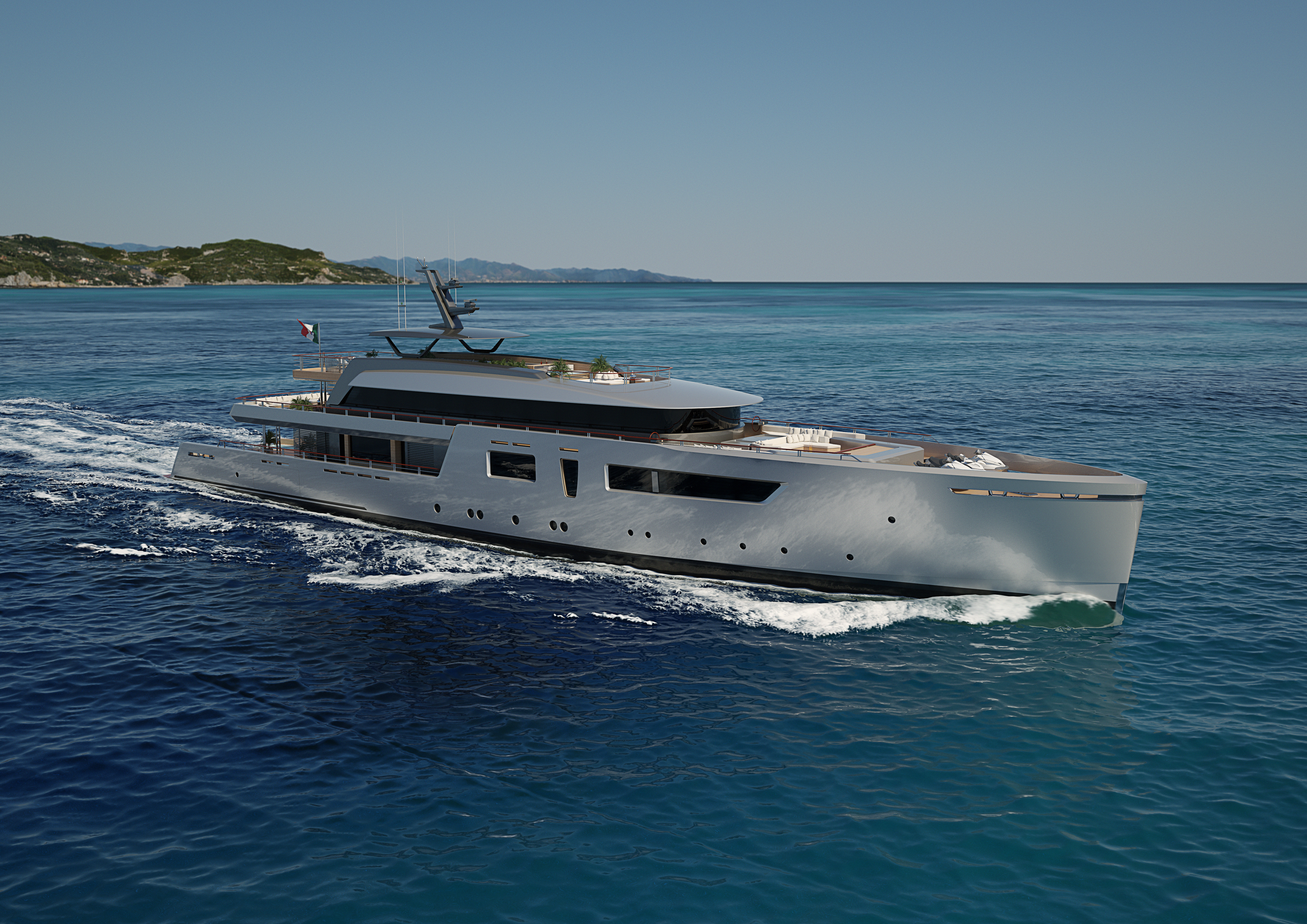 Tankoa présente le concept TLV62 un superyacht de 60m