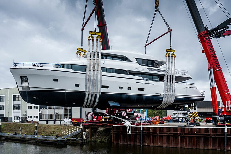 Kokoro, alias YN199, un autre yacht lancé par Moonen