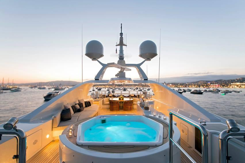 yacht Blue Night