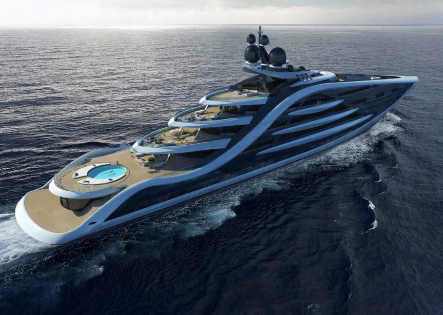 UK Based Designer Andy Waugh Has Presented His Latest Superyacht Concept Epiphany In May 2016 Measuring 130m The Vessel Features A Unique Silhouette And